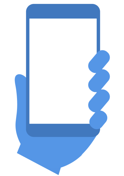 Blue mobile logo clear screen